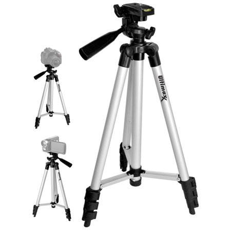 """Full Size 50"""" Tripod With Leveler Adjust & Carrying Case for SLR Cameras"""