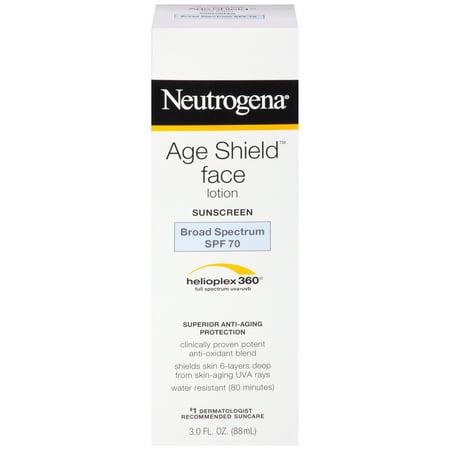Grinding Face Shield - Neutrogena Age Shield Anti-Oxidant Face Sunscreen SPF 70, 3 fl. oz
