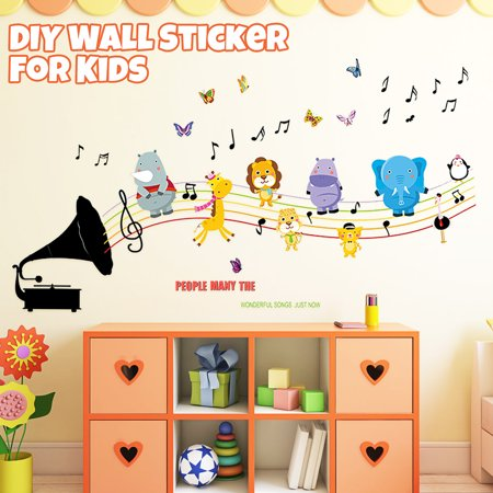 Wall Decoration Sticker Cartoon Wall Decals DIY Removable Wallpaper Children's Room Bedroom Kindergarten Classroom Layout Toddler Kids - image 8 de 8