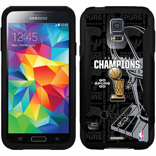 San Antonio Spurs Champions 2014 Design on OtterBox Commuter Series Case for Samsung Galaxy S5