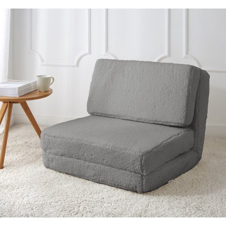 Mainstays Sherpa Flip Chair Available In Multiple Colors