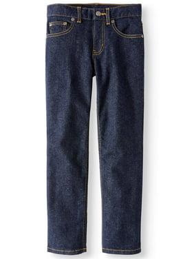 Wonder Nation Boys Straight Stretch Jeans, Sizes 4-16 & Husky
