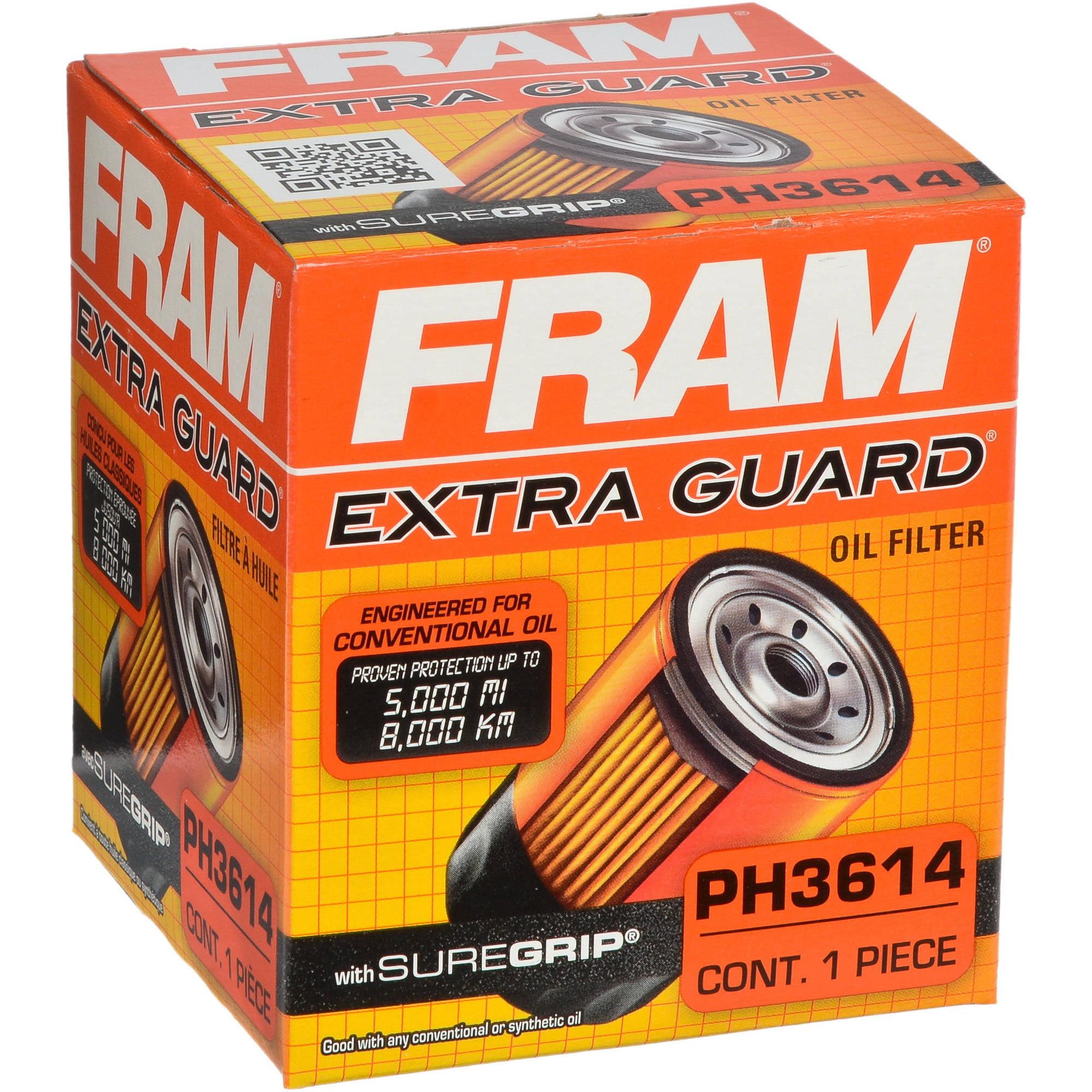 FRAM Extra Guard Oil Filter, PH3614