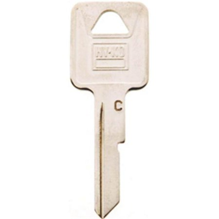 HY KO 11010B50 Key Blank Brass Nickel 10 Pack