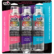 Tulip Color Shot Instant Fabric Color Spray 3/Pkg-Bright