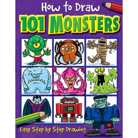 How to Draw 101 Monsters (How Do You Draw A Halloween Bat)