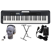 Casio CT-S300 PPK 61-Key Premium Keyboard Pack with Stand, Headphoness & Power Supply