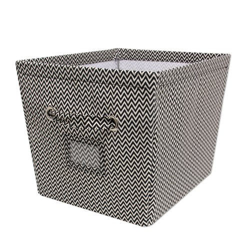 Mainstays Large Canvas Bin, Chevron