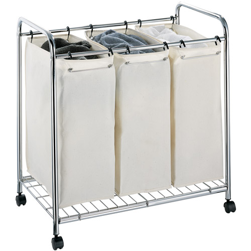 Neu Home 3-Section Laundry Sorter, Chrome