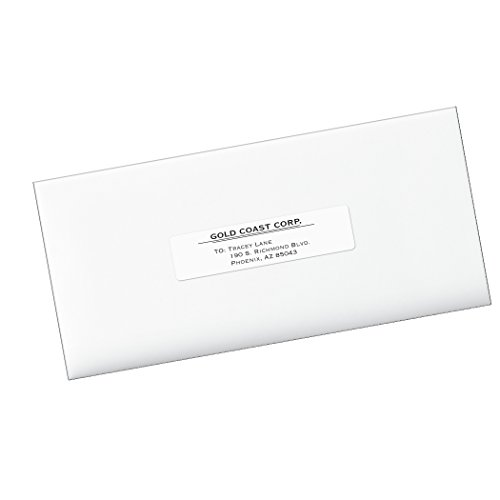 Avery Easy Peel 1 x 4 Inch White Mailing Labels 5000 Count (5961)