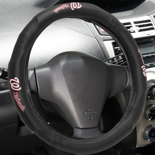 "MLB Washington Nationals Steering Wheel Cover (Made to fit 14.5""-15.5"" steering wheels"
