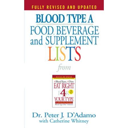 Blood Type A Food, Beverage and Supplement Lists -