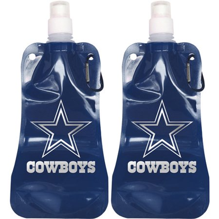 d9b50bd60c5 NFL 16 oz Dallas Cowboys Foldable Water Bottle Set, 2pk - Walmart.com