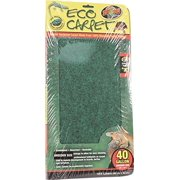"Zoo Med Eco Carpet Reptile Bedding, 15"" x 36"", Green"