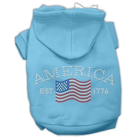 Mirage Pet Products 54-21 XSBBL Classic American Hoodies Baby Blue XS - 8