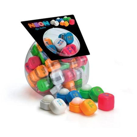 Neon Cubes neocube mixfb Neon Cubes Lip Balm Fishbowl 50 Count Fishbowl