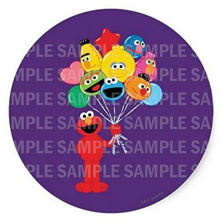 Sesame Street Elmo Balloons Birthday Edible Image Photo 8