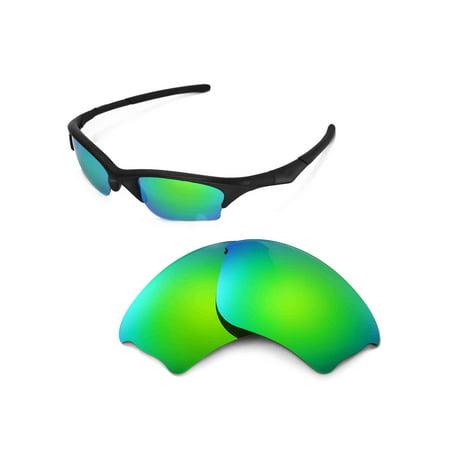 Walleva Emerald Polarized Replacement Lenses for Oakley Half Jacket XLJ Sunglasses (Oakley Brillen Ersatzgläser)