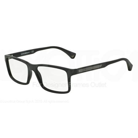 EMPORIO ARMANI Eyeglasses EA 3038 5063 Black Rubber -