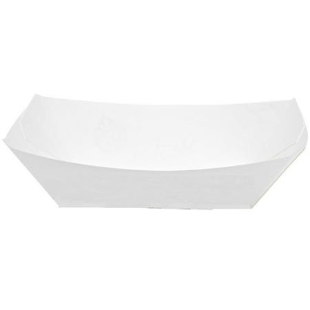Dixie® (KL300W8) Kant Leek 3 Lb Polycoated Paper Food Tray by GP PRO (Georgia-Pacific) White, 500 Count, (250 Trays Per Pack, 2 Packs Per