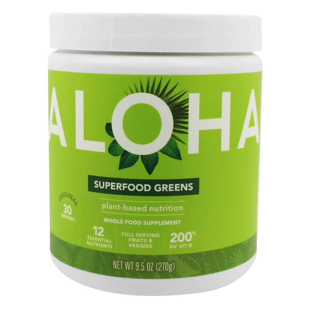 Aloha - Superfood Greens Powder Original - 9.5 oz.