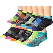Ronnox Men's 12-Pairs Low Cut Running & Athletic Performance Socks, MRLT04-AB-SM, Small/Medium