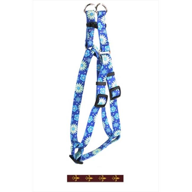 Yellow Dog Design SI-FDLG103L Fleur de Lis Gold Step-In Harness - Large