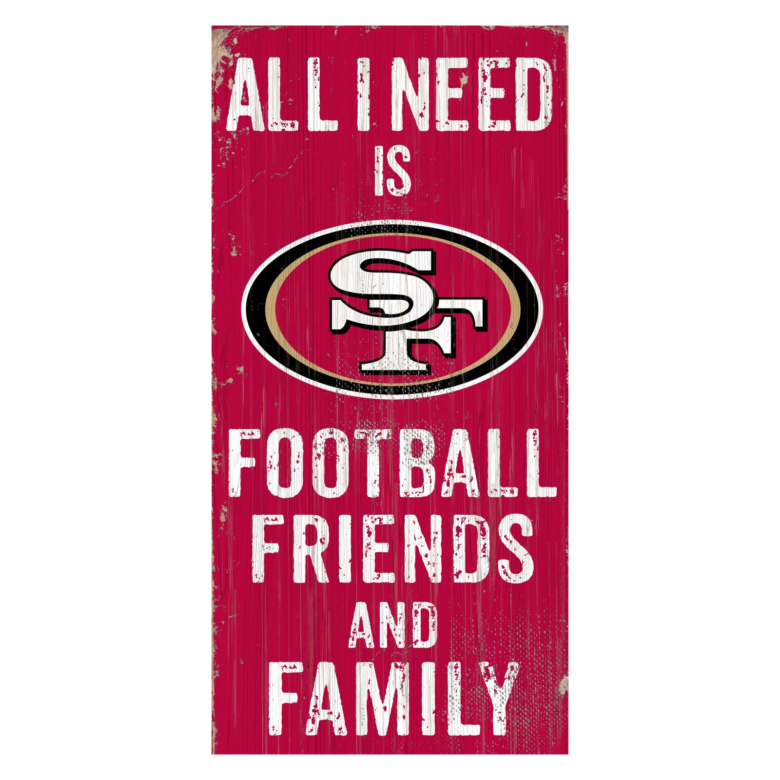 Fan Creations NFL All I Need Is Football Family and Friends Sign Wall Art
