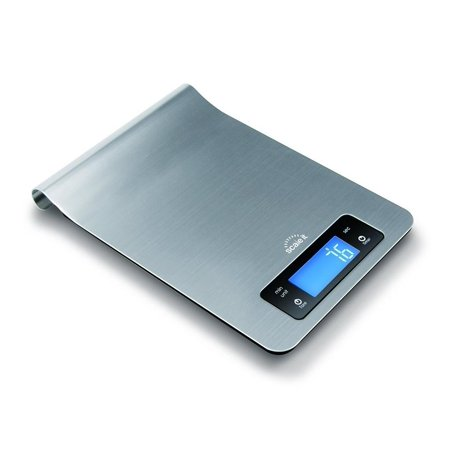ScaleIt Digital Multi-function Kitchen and Food Scale, Elegant Brushed Stainless Steel Design with Special Hang-able Design for Easy Storage (Food Design)