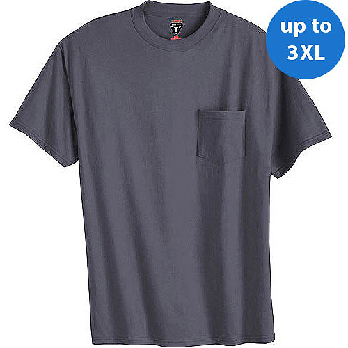 Hanes - Big Men's Short Sleeve Beefy Pocket Tee