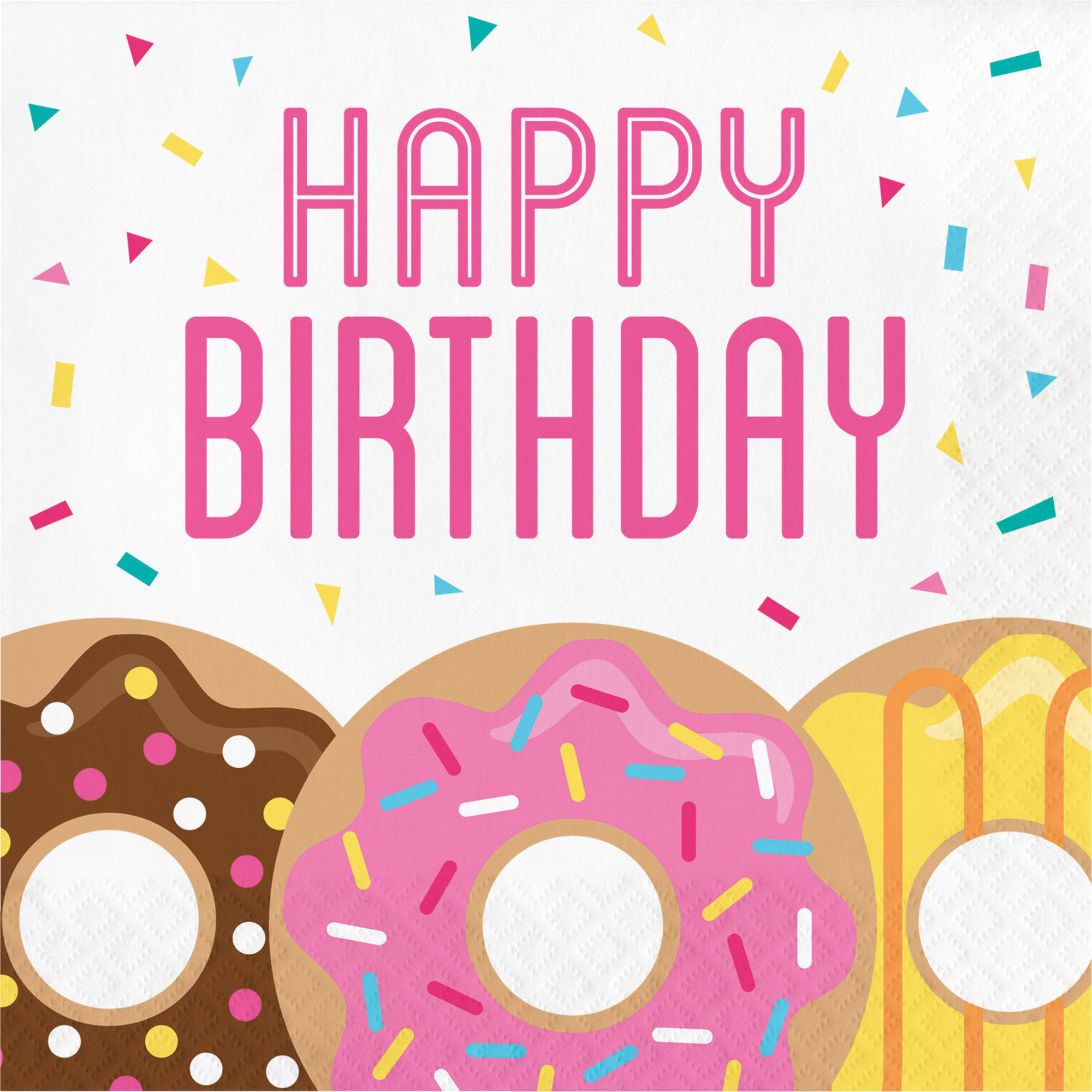 Donut Time Birthday Napkins, 16 pk