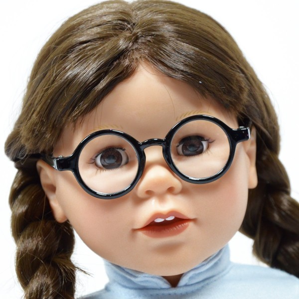 Set of 2 Solid Round Glasses for 18'' Doll -
