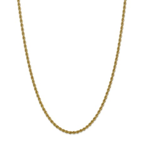 14k Yellow Gold 3mm Link Rope Chain Necklace 20 Inch Pendant Charm Fine Jewelry Gifts For Women For Her - image 9 de 9