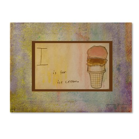 Trademark Fine Art 'I is For Ice Cream' Canvas Art by Tammy - I Is For Ice Cream