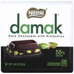 Nestle Damak Dark Chocolate with Pistachios, 2.82 Oz.