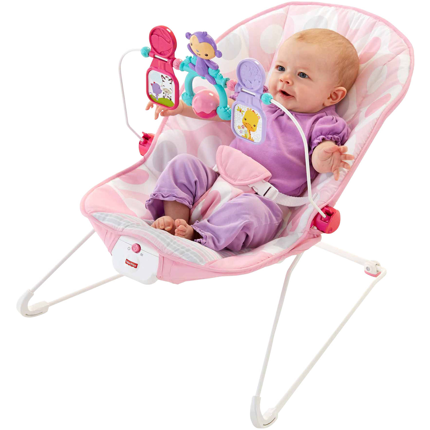 Fisher-Price Baby\'s Bouncer, Pink Ellipse - Walmart.com