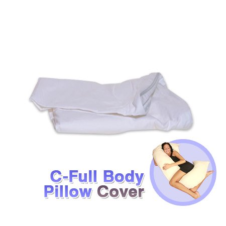 Allergen Free Pillow (Deluxe Comfort Cover for C-Shaped Full Body Pillow – Stain-Resistant – 50% Polyester/25% Rayon/25% Cotton – Allergen-Free – Pillow Cover,)
