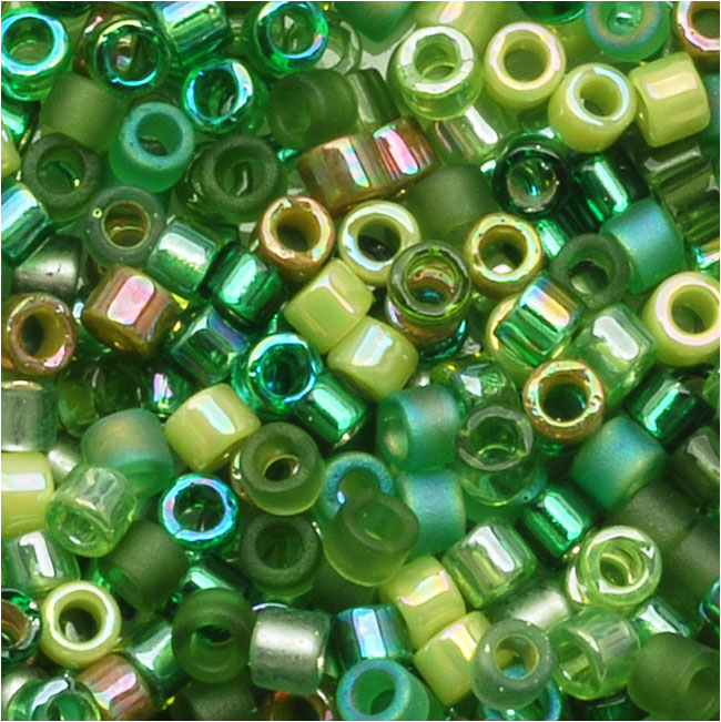 Miyuki Delica Seed Beads Mix 10/0 Ever Green 8 Grams