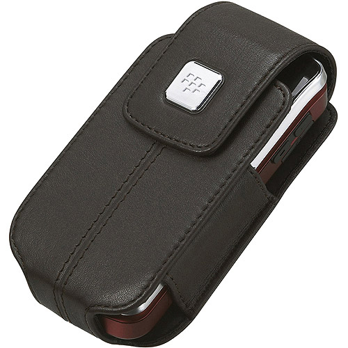 BlackBerry Leather Case With Swivel Belt Clip For Pearl Flip 8220/8230 - Black