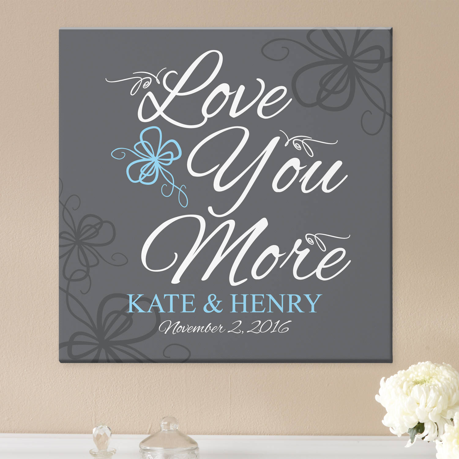 Personalized More In Love Canvas, Available in 2 Sizes