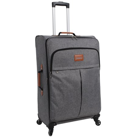 Coleman 28 Brockton Upright Spinner Luggage, Grey (Best Upright Spinner Luggage)
