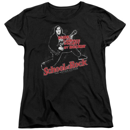 School Of Rock Music Band Comedy Movie Jack Black Rockin Women's T-Shirt (School Of Rock Jack Black Band Name)