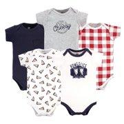 Hudson Baby Boy Cotton Bodysuits 5-Pack