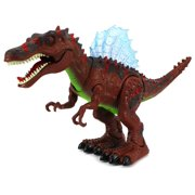 Dinosaur Century Spinosaurus Battery Operated Toy Dinosaur Figure w/ Realistic Movement, Lights and Sounds (Colors May Vary)