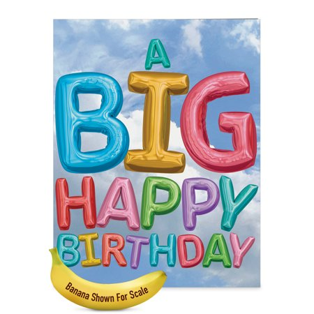 J5651DBDG-US Jumbo  Birthday Card: 'Inflated Messages from Us' with Envelope (Jumbo Size: 8.5+ x 11+) - Happy Halloween Messages Card