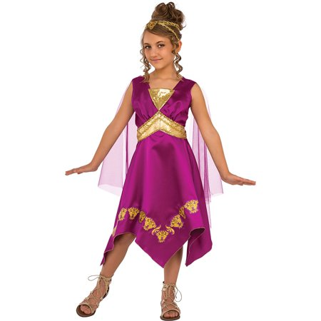 Grecian Goddess Girl Greek Princess Child Halloween Costume - Greek Costume For Girl