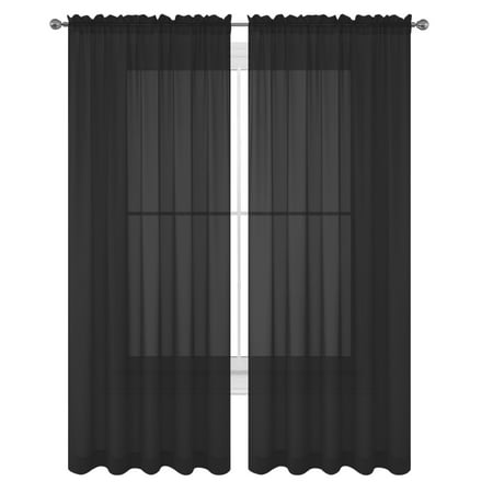 Match Two Piece (WPM 2 Piece Beautiful Sheer Window Elegance Curtains/drape/panels/treatment 60