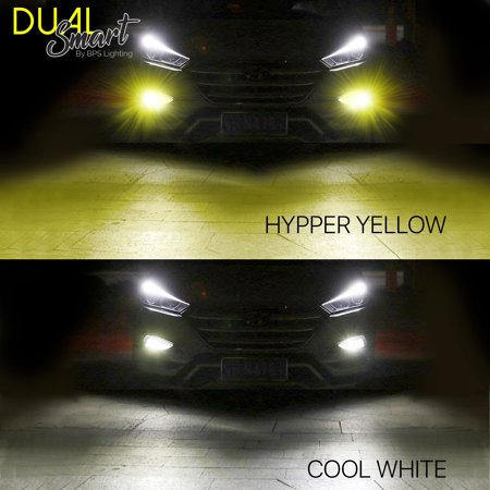 D2 LED Headlight Bulbs 2504/PSX24 Smart Function Dual Color White/Yellow 8000Lm - image 3 of 11