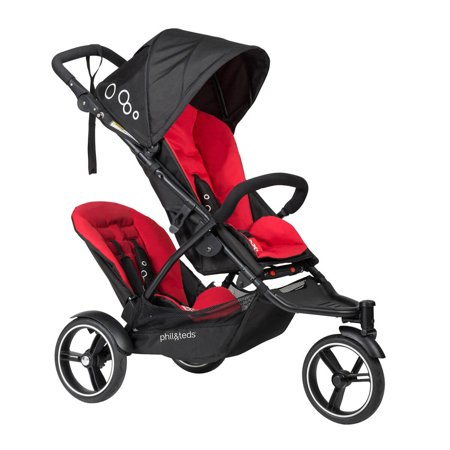 Phil   Teds 2017 Dot V3 Stroller   Double Kit Black Red Brand New   Free Shipping