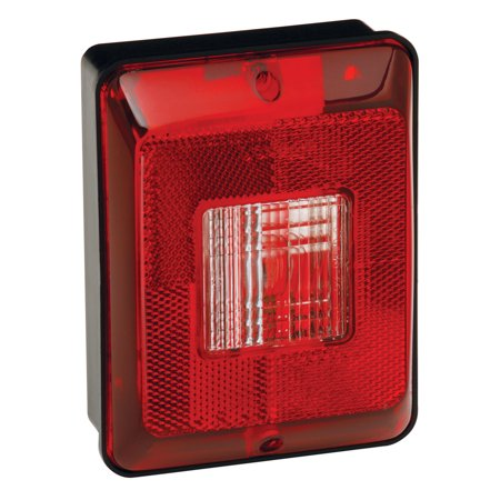 Vertical Tail (Bargman 31-86-103 Taillight #86 - Single Vertical Backup with Black)